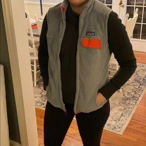 Patagonia grey vest with pink trim Sz M